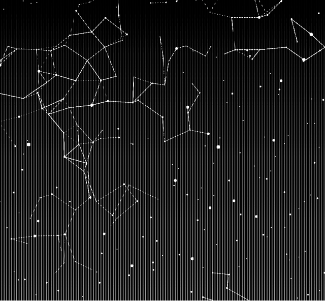 Night sky with some stars connected by lines