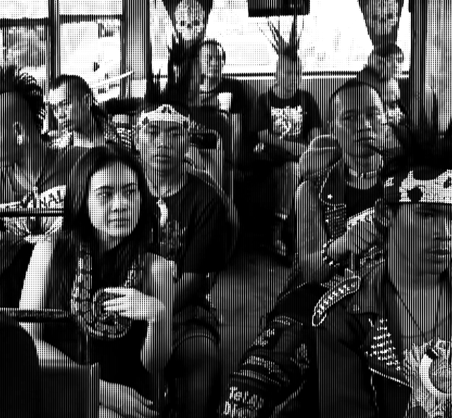 Indonesian Punks riding on a bus